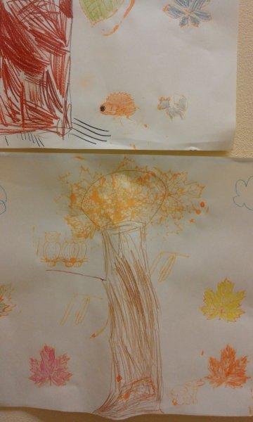 wiem jak drzewo narysować,może w nim zamieszka sowa (2)